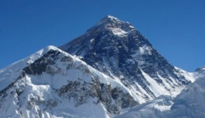 Zsněžená hora Mount Everest